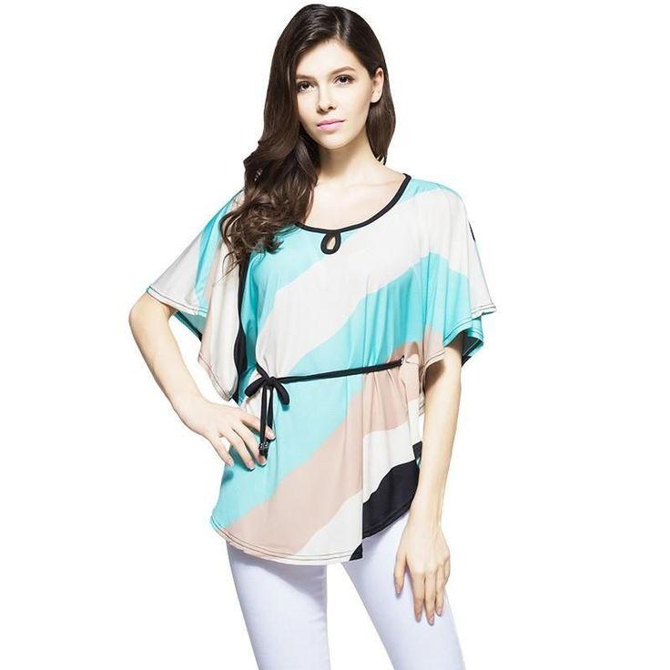 summer-clothing-2016-hot-sale-women-batwing-sleeve-t-shirt-loose-plus-size-fashion-women-dress-o-neck-t-shirt-presented-a-belt