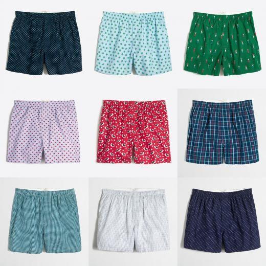 J.crew J Crew Men's 100% Cotton Woven Boxers Underwear Prints Plaids Size S,m,xl Nwt Assorted Boxer