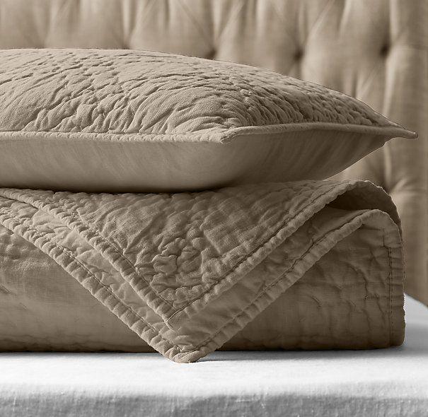 stonewashed belgian linen quilt u0026 sham