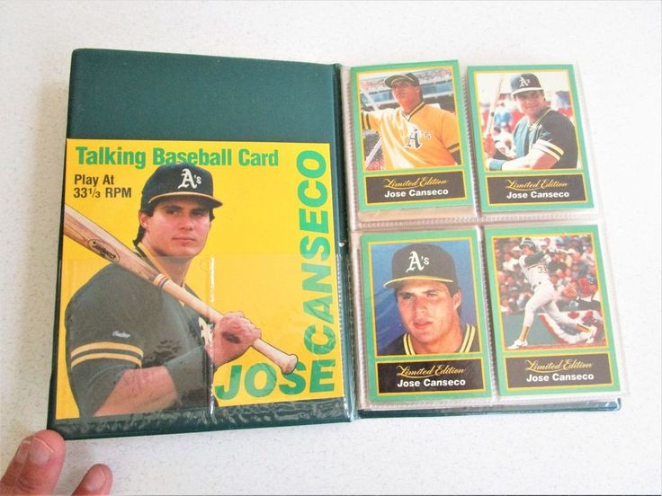 Jose Canseco Story Binder Baseball Cards Talking Baseball Card Oakland Athletics #Athletics #OaklandAthletics