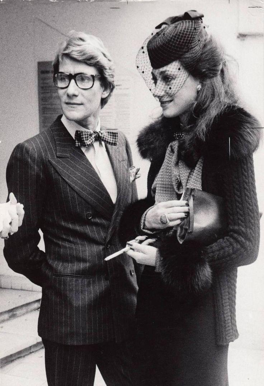 Unknown - Yves Saint Laurent and Marisa Berenson, mid 1970's Original Vintage Print | 1stdibs.com