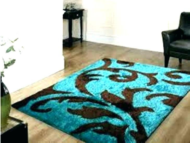 Home Depot Area Rugs 5x8 Brown And Blue Living Room Turquoise