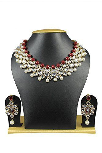 Red & White Pearls Indian Bollywood kareena kapoor Inspired Kundan Jewellery Set VVS Jewellers, http://www.amazon.com/dp/B01J7VH2YY/ref=cm_sw_r_pi_dp_x_FrkBzbZD7D4D9