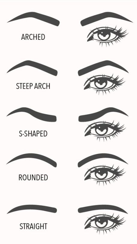 eyebrow shapes visual guide