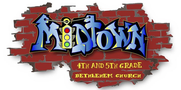 Design an inner city Logo using graffiti text for 4th and 5th grade children's ministry by VIc32