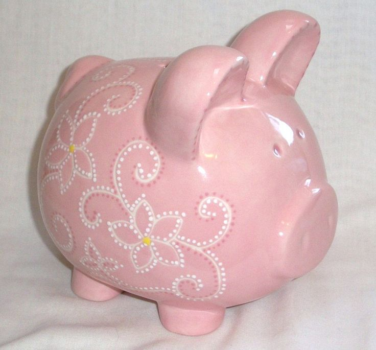 Hand painted Ceramic Piggy Bank Personalized