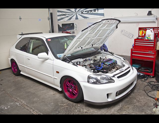 Honda Civic EK (EJ) Hatch via twolitremedia on Flickr - B20Bomber's build thread http://www.jdmrides.ca/forum/b20bombers-1999-honda-civic-ek9-wannabe-build-up-t17260.html