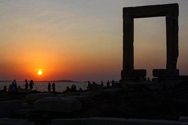 Portara - Naxos island [🇬🇷] #naxos #naxos_island #portara #greece #igers #igersgreece #grecia #sunset #tramonto #people #arte #art #cyclades #travel #travelling #travelgram #travelphotography #tourism #sun by (passpar_tout). tramonto #cyclades #greece #tourism #arte #grecia #igersgreece #people #travelgram #travelling #naxos #naxos_island #sun #igers #travelphotography #art #portara #travel #sunset