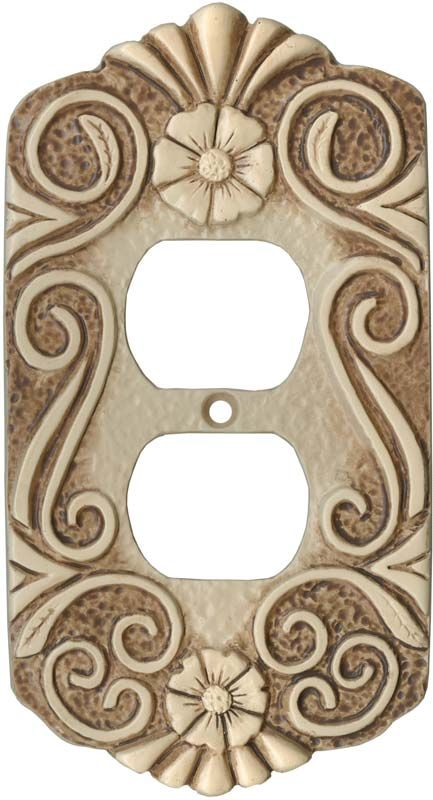 antigua old spain light switch plates outlet covers wallplates - Decorative Outlet Covers