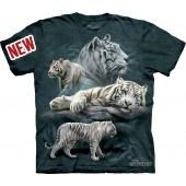 Camiseta - The Mountain - White Tiger Collage jlle1 @jlle1.com