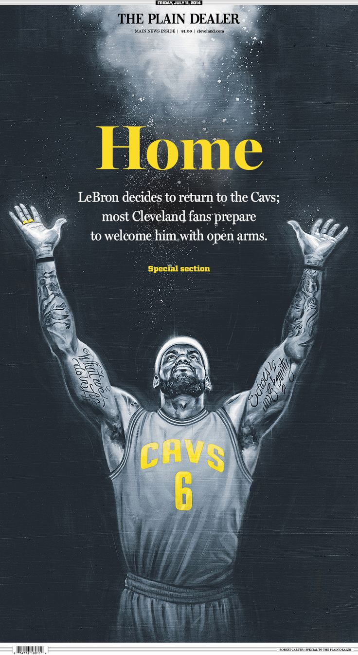 Lebron james return to cavaliers see the front page of the plain dealer