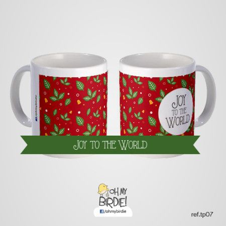 """Oh my Birdie! Pattern love: """"Joy to the World"""" #Patterns #Gifts #Mugs"""