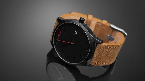 Black x Tan Leather Watch.