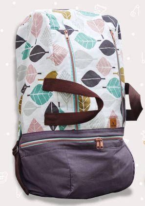 Großer Rucksack mit mehreren Fächern zum Nähen - Schnittmuster und Nähanleitung via Makerist.de