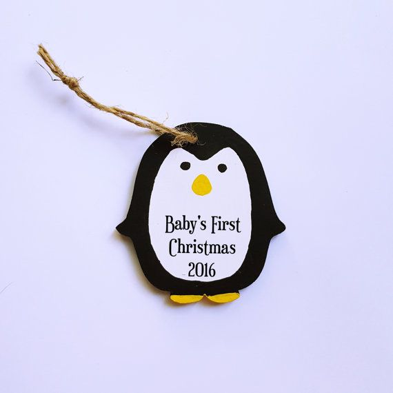 Baby's First Christmas Penguin Ornament by TheSensoryEmporium
