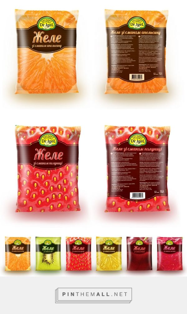 Dr.Igel — желе в дизайне от Visualbox curated by Packaging Diva PD. Something to eat (I think) with awesome fruit illustrations created via http://thebestpackaging.ru/2014/02/dr-igel-zhele-v-dizayne-ot-visualbox.html