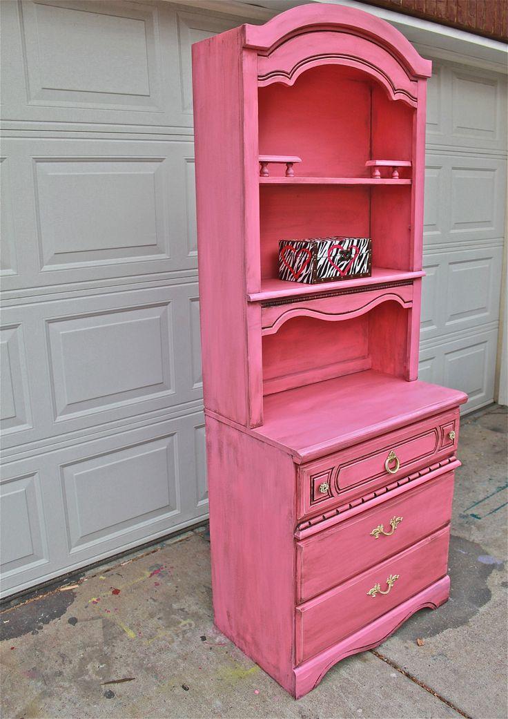 Best Pink Dresser Hutch Dresser Distressed Shabby Chic 400 x 300