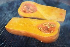 Add extra flavor to the Butternut Squash that is the base for so many recipes by throwing it on the smoker.