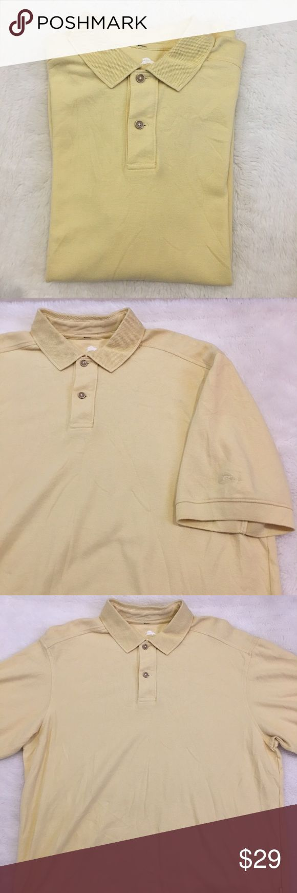 Tommy Bahama Yellow Polo Shirt Size Large Preowned authentic Tommy Bahama Yellow Polo Shirt Size Large. Lightly worn. Please look at pictures for better reference. Happy shopping! T6 Tommy Bahama Shirts Polos