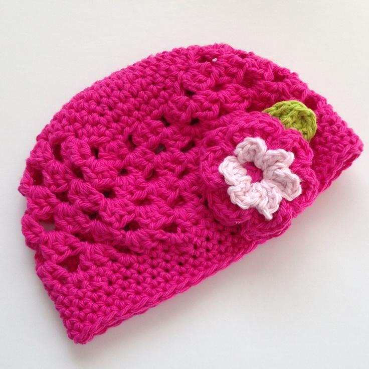 Dark pink spring hat. 100% cotton $25