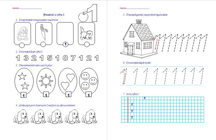 Materiale didactice de 10(zece): Numărul şi cifra 1, numărul şi cifra 2- clasa pregătitoare-M.E.M.