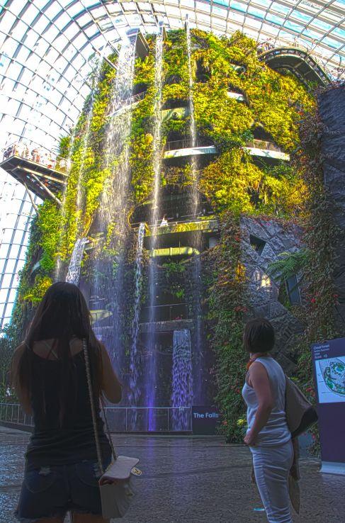 Waterfall - Garden By The Bay #GardenByTheBay #Waterfall #Singapore