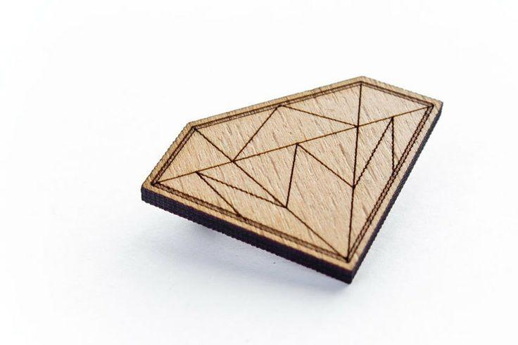 Diamant Brosche von Zweieck auf DaWanda.com