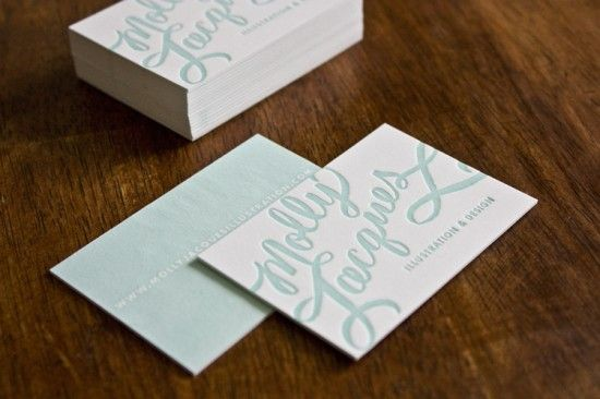 Molly Jacques Calligraphy Business Cards | Design  Photo: Molly Jacques | Letterpress Printing: Sugar Paper