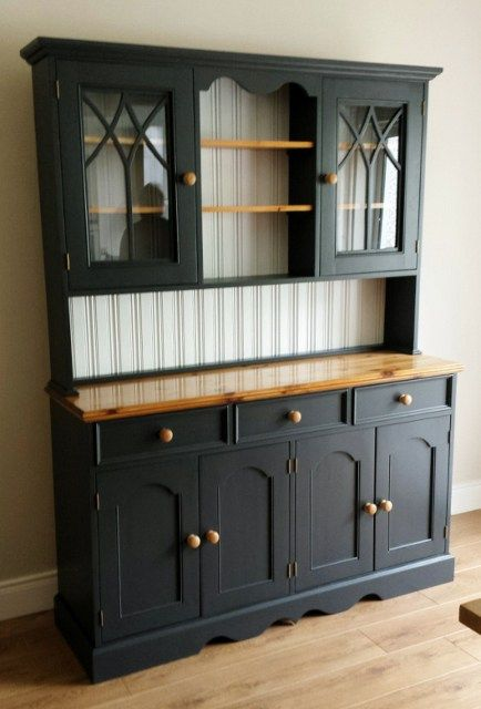 """Dunboyne Dresser  Colours Laura Ashley """"Charcoal"""" and """"Snow"""" http://www.myhandpaintedfurniture.com/hand-painted-furniture/"""