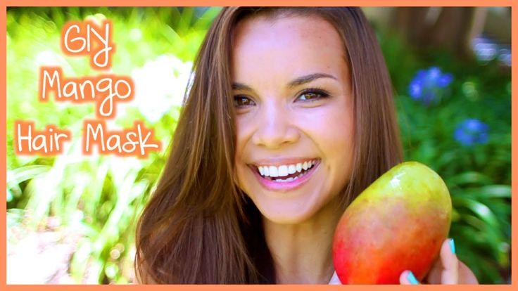 GIY Summer Hair Mask! Mango, banana, greek yogurt, Coconut oil
