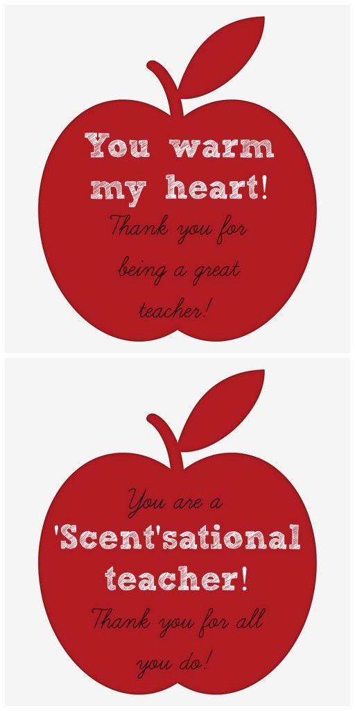 Teacher Appreciation Gift Idea: Candles & Candle Warmers (Plus a free printable tag!) | It's A Fabulous Life