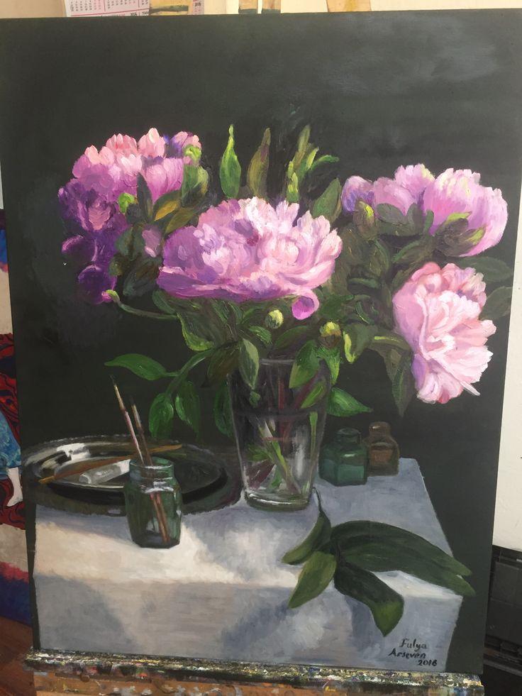 Şakayık çiçek resim sanat yağlıboya paint art artist
