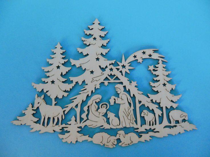 Fensterbild heilige familie ca 33 cm christbaumschmuck - Weihnachts fensterbilder basteln ...