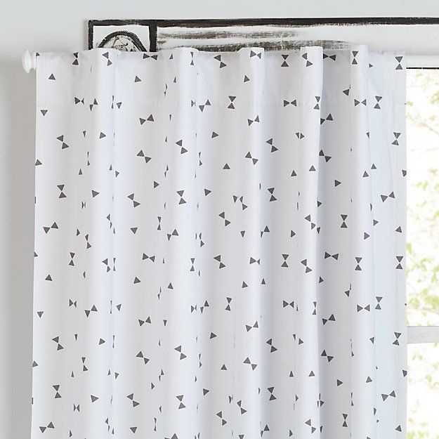 Go Lightly Grey Triangle Blackout Curtains | The Land of Nod