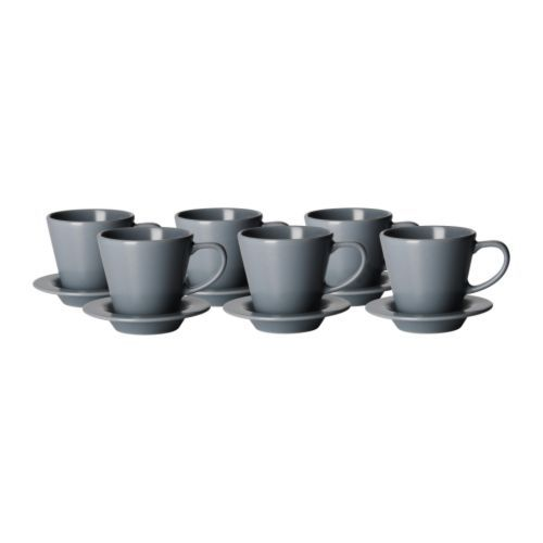 dinera coffee cup and saucer ikea with its simple shapes muted colors and matt glaze the. Black Bedroom Furniture Sets. Home Design Ideas