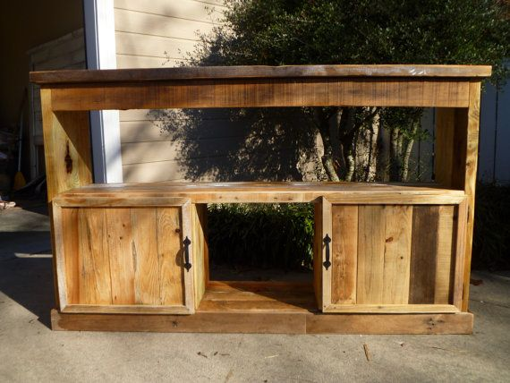 Console table made from pallets