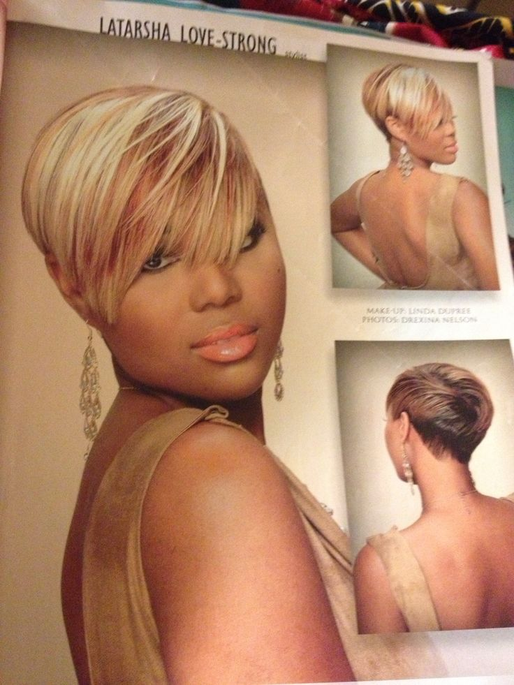 Short hair styles from hair magazine at salon.