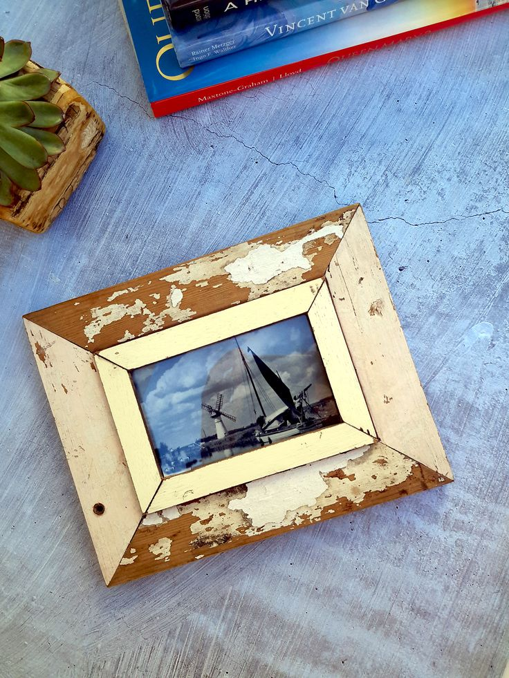 Distressed Frames Made from French Old Houses.