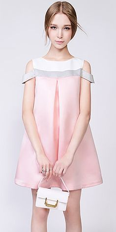 e1a7c0f96ca Sweet Style Off-shoulder Contrast Color Loose Dress | шитье | Kids ...