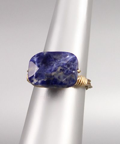 Lapis and Gold Ring  $16.00 with FAST, FREE SHIPPING