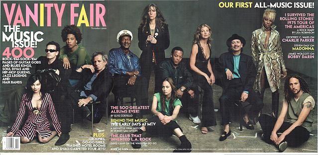 November 2000 Vanity Fair's Music issue cover photo by Annie Leibovitz