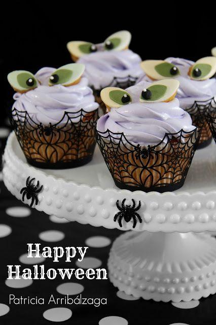 Halloween cupcakes from the book: Fiestas Dulces de Patricia Arribálzaga / Cupcakes de Halloween del libro: Fiestas Dulces de Patricia Arribálzaga