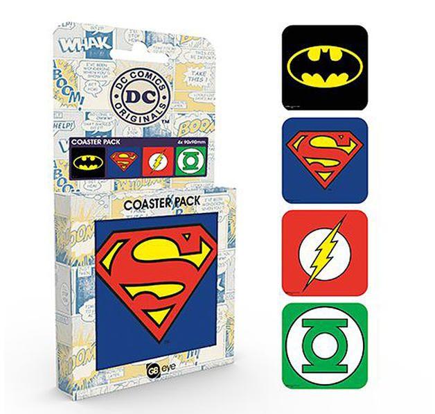 DC Comics Untersetzerset Logos