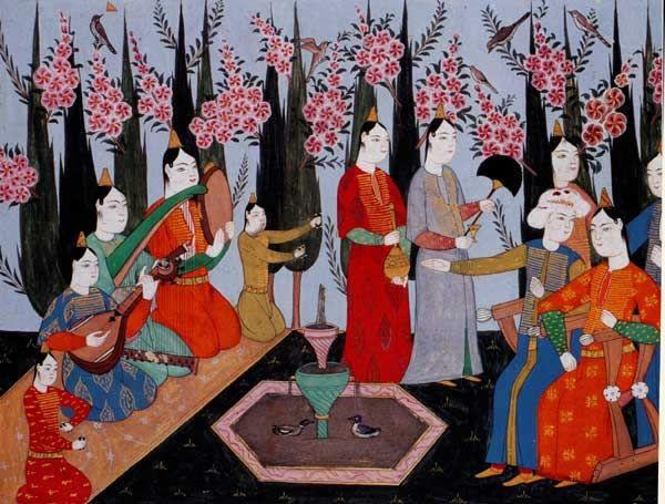 Harem Bahçesinde Meclis I.Ahmed Albümü.jpg (600×455)