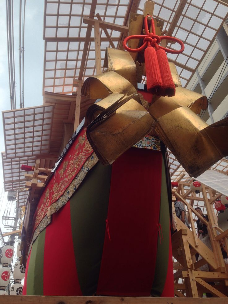 """Japanese float """"Hoko"""" for Gion festival in Kyoto. The shape is like a traditional boat. Especially, this one built for the first time in 150 years! Wow! Can you believe that?"""