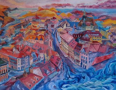 """Check out new work on my @Behance portfolio: """"town in water"""" http://be.net/gallery/48238855/town-in-water"""
