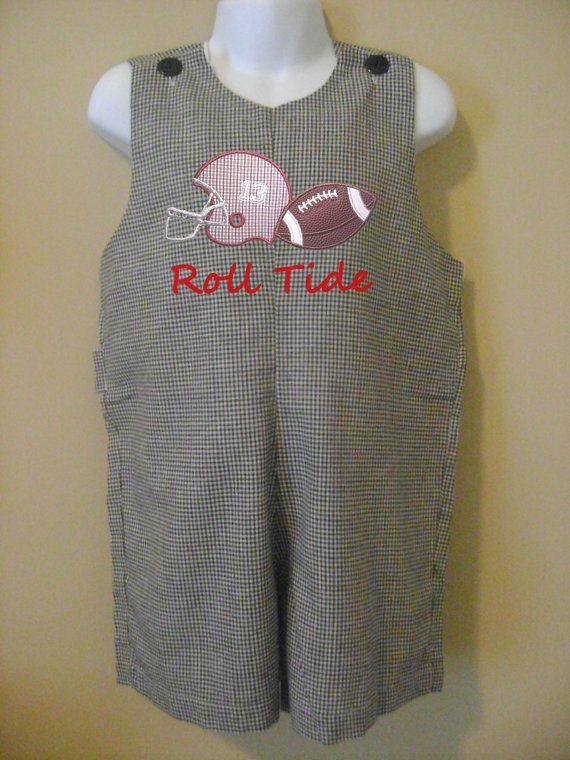 For My Bama Little Boy! Jon Jon or Longall w/ Alabama Football by LeapFrogsLilyPads