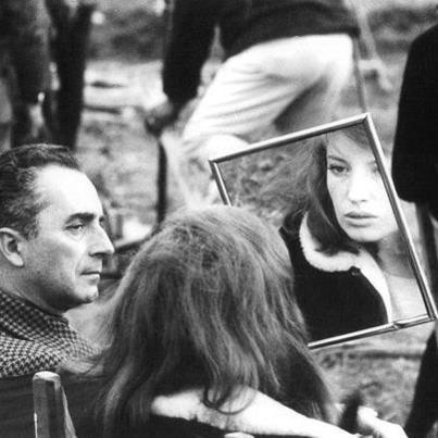 Monica Vitti & Michelangelo Antonioni