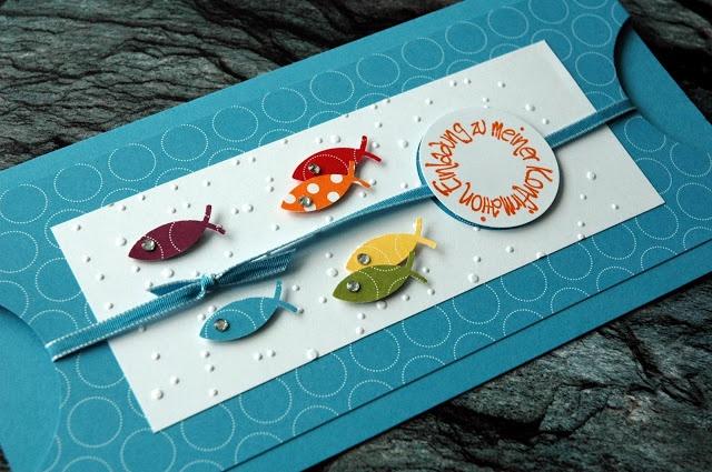 paperwitch: Konfirmationskarte mit Fischen