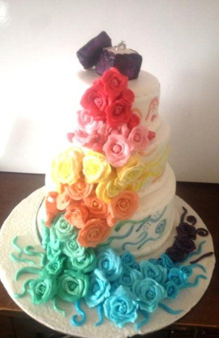rainbow flower wedding cake 151 best images about flower cakes on flower 18958